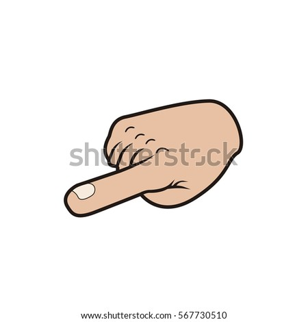 Isolated hand signal on a white background, Vector illustration