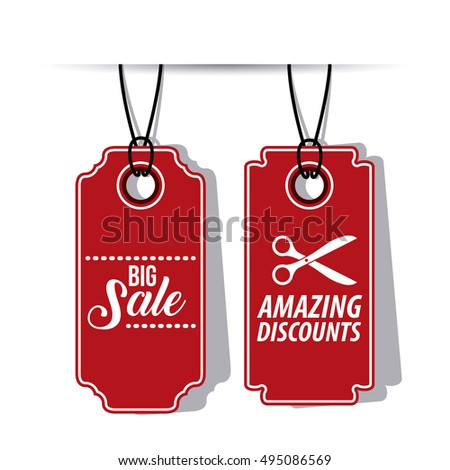 Isolated Hanging Tag Design Stock Vector 495086569