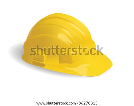 isolated hard hat - stock vector