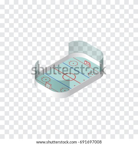 Isolated Hockey Isometric. Ice Games Vector Element Can Be Used For Hockey, Playground, Ice Design Concept.