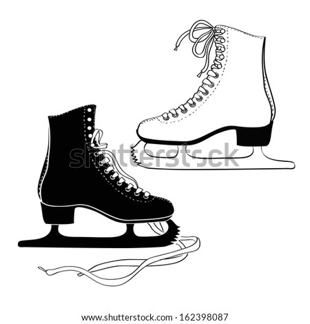 Isolated icon of men's and women 's skates