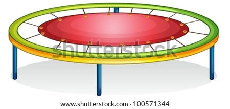 Isolated illustration of play equipment - trampoline - stock vector