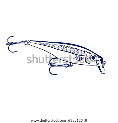 Isolated Illustration Of Spinning Lure Wobbler Vector Can Be Used For Creating Logo And Emblem