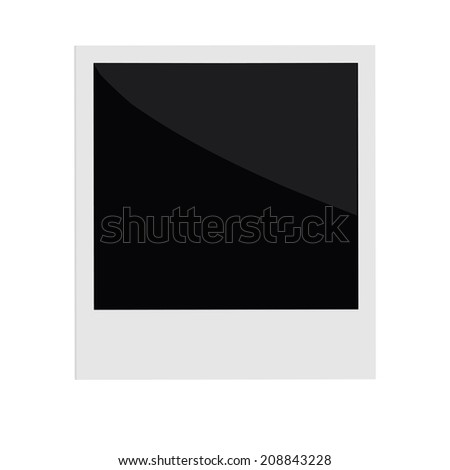 Isolated instant photo in flat design style. Template. Vector illustration - stock vector