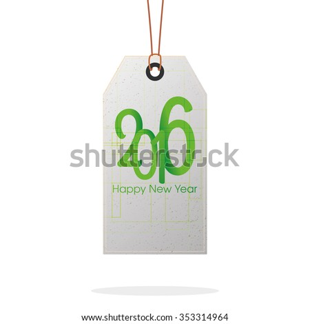 Isolated label with text on a white background for new year celebrations