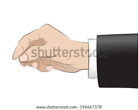 isolated man hand with black suit sleeve vector illustration
