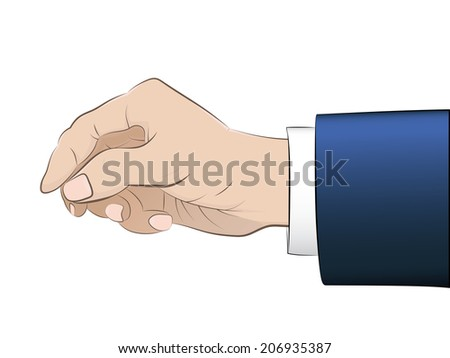 isolated man hand with blue sleeve vector illustration