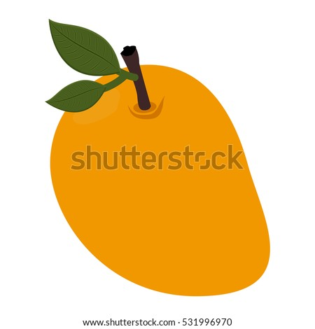 Isolated mango fruit design