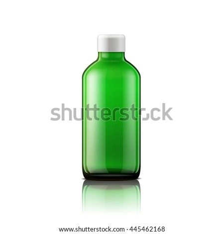 Isolated medicine bottle on white background. Empty medicine bottle for drugs, tablets, capsules. Vector illustration - stock vector