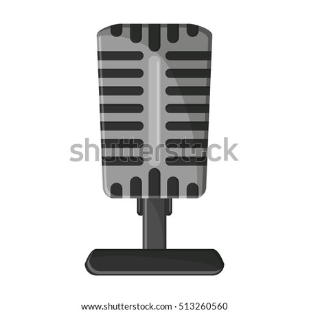 Isolated microphone of music concept design