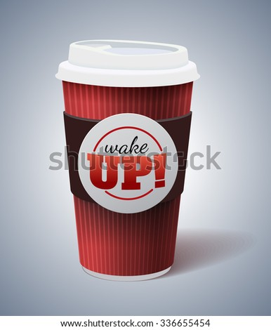 Isolated mock up of paper coffee cup