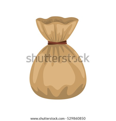 Isolated money bag design