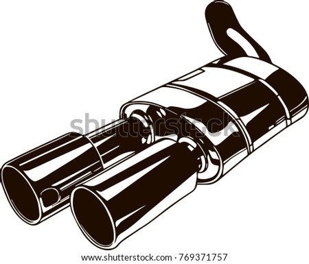 Vector armored car stock images royalty free images vectors isolated monochrome illustration of car exhaust pipe malvernweather Image collections