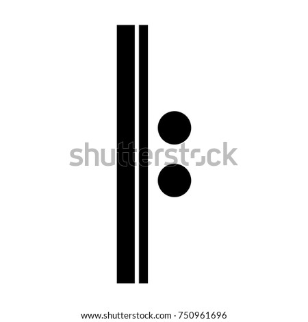 Isolated Musical Note Repeat Sign Vector Stock Vector 750961696