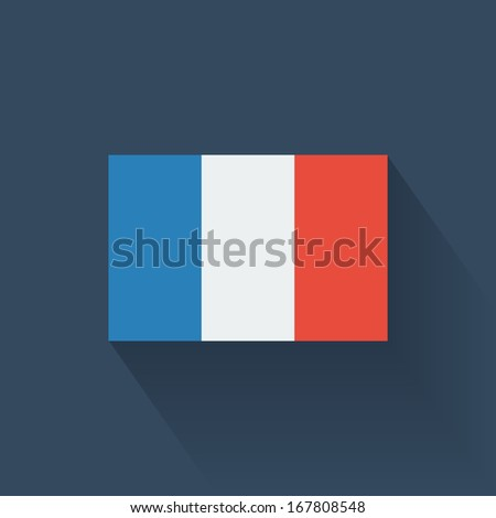 Isolated national flag of France. Flat design. - stock vector