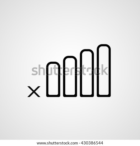 isolated no mobile connection network coverage bar vector icon - stock vector