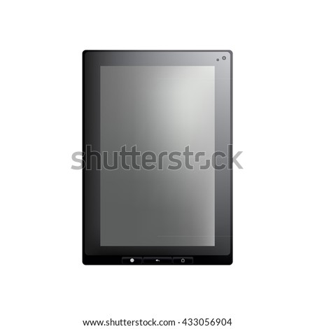Isolated object. The tablet on a white background. Realistic object.