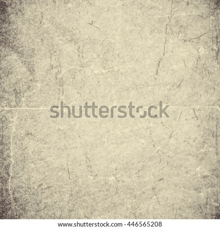 Isolated old vintage folded torn paper. - stock vector