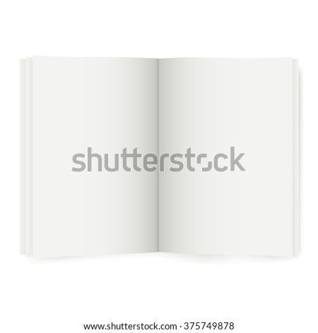 isolated open book, vector illustration