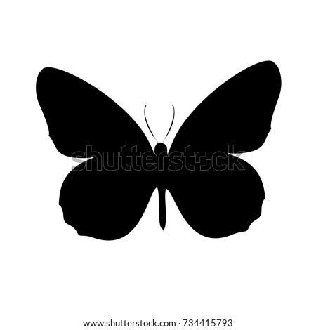 isolated outline of a butterfly on a white background abstract vector pattern of butterflies