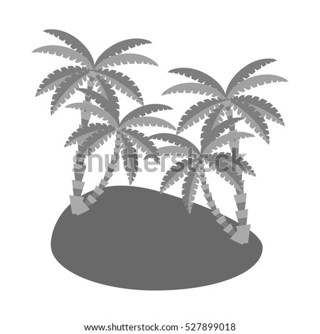Isolated palm tree design