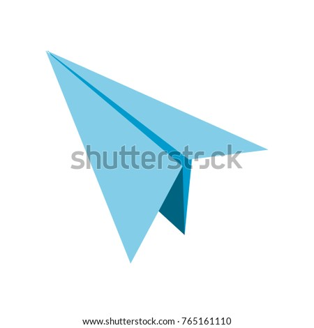 Isolated paperplane design