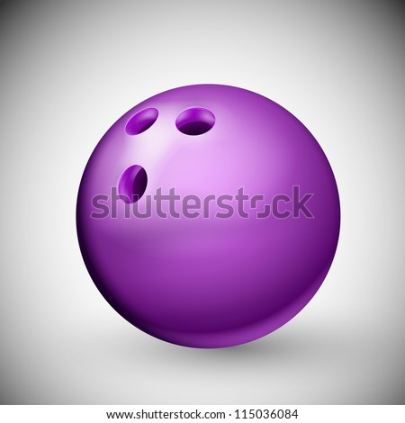 Isolated purple bowling ball. Eps 10 - stock vector