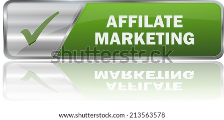 isolated realistic modern green 3D vector eps10 affilate marketing label sign - stock vector