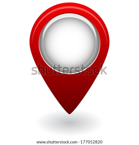 isolated red map pointer - stock vector