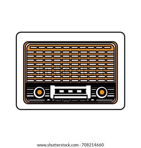 Isolated Retro Radio Design Stock Vector 708214660 - Shutterstock