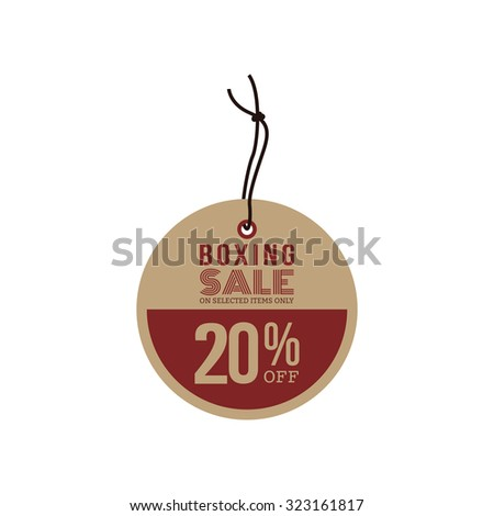 Isolated sale label with text on a white background