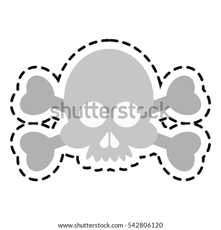 Isolated skull cartoon design