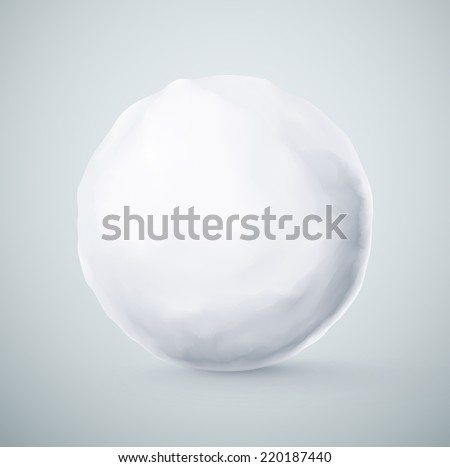 Isolated snowball closeup, eps 10 - stock vector