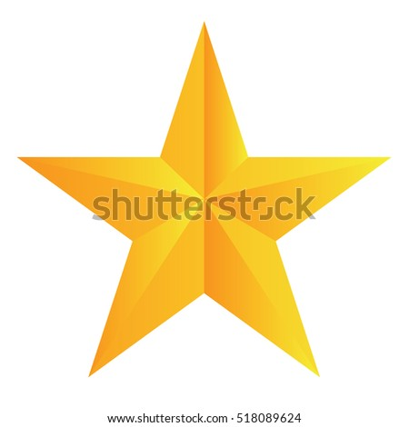 Isolated star shape ornament on a white background, Vector illustration