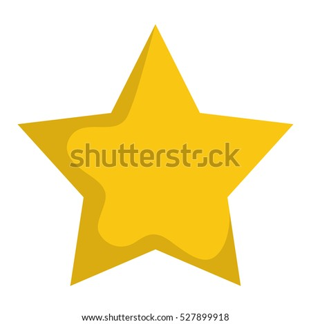 Isolated star symbol icon vector illustration graphic design