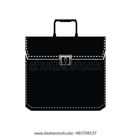 Isolated suitcase icon on a white background, Vector illustration