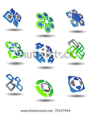 Isolated  symbols and icons for design - also as emblem or logo template. Jpeg version also available in gallery - stock vector