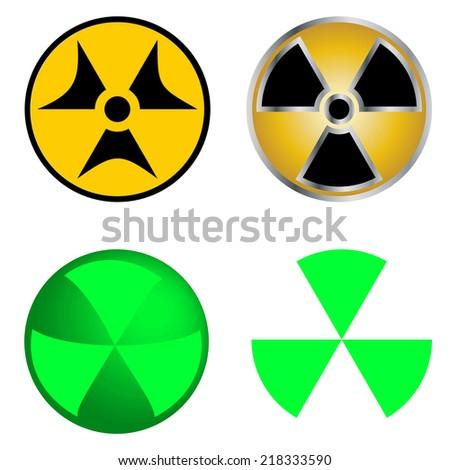 Isolated Symbols of Radiation Vector Illustration. EPS10 - stock vector