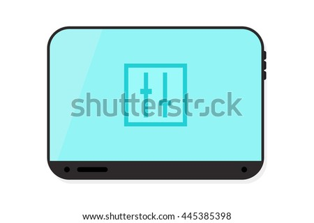 Isolated Tablet vector illustration