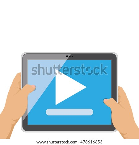 Isolated tablet with an app icon, Vector illustration