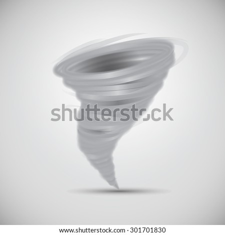 Isolated Tornado Vector. - stock vector