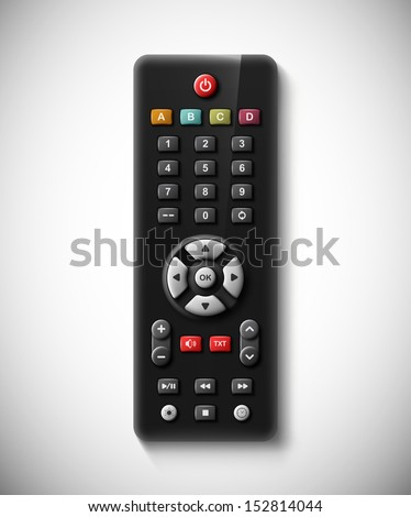 Isolated TV remote. Eps 10 - stock vector