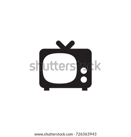 Isolated Tv Set Icon Symbol On Stock Vector 726363943 Shutterstock