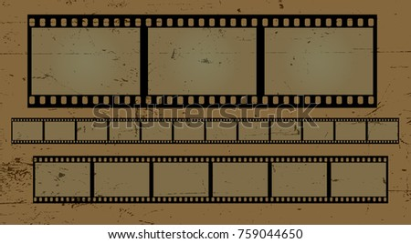 Isolated vector film frame