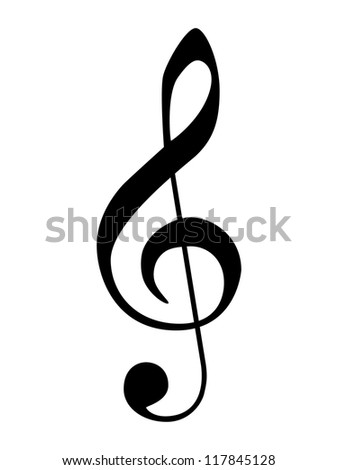Isolated vector g-clef. - stock vector