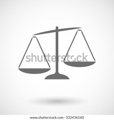 Isolated vector illustration of  an unbalanced weight scale - stock vector