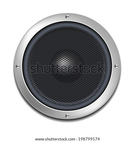 Isolated Vector Realistic Speaker - stock vector