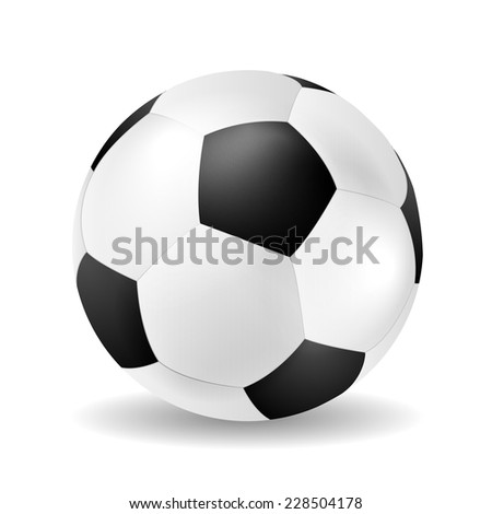 Isolated vector soccer ball closeup - stock vector