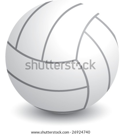 isolated volleyball - stock vector