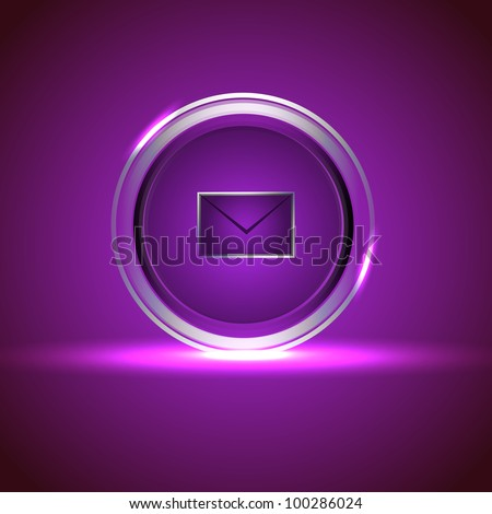 Isolated website and internet web 2.0 icon for new message or unread message with mail or message symbol. EPS 10. Vector illustration. - stock vector